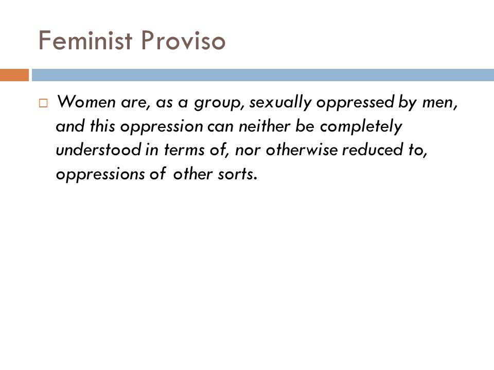 Feminist Proviso