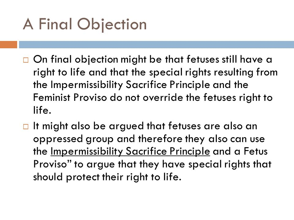 A Final Objection