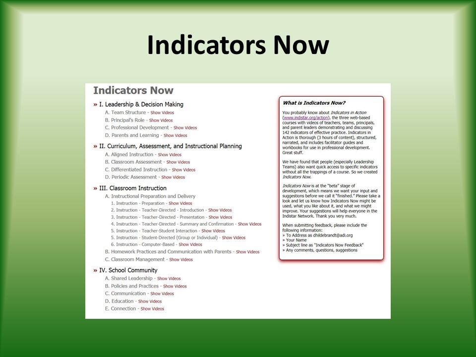 Indicators Now