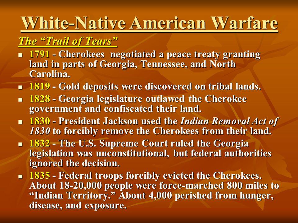 White-Native American Warfare