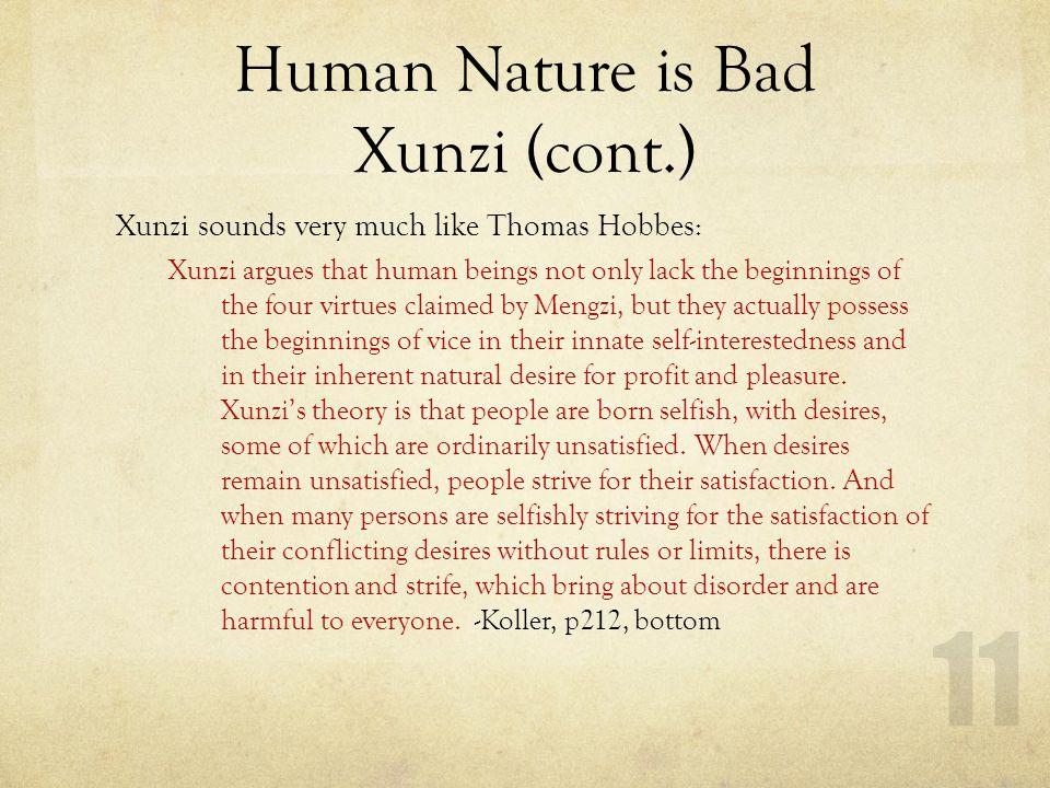 Mengzi v. Xunzi (Altruism v. Egoism in Green Slides)