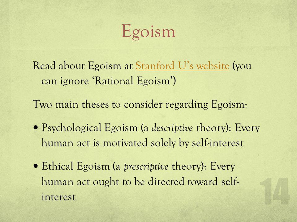 Altruism v. Psych. Egoism