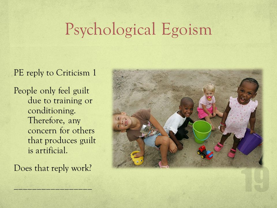 Psychological Egoism Criticism 2 of PE