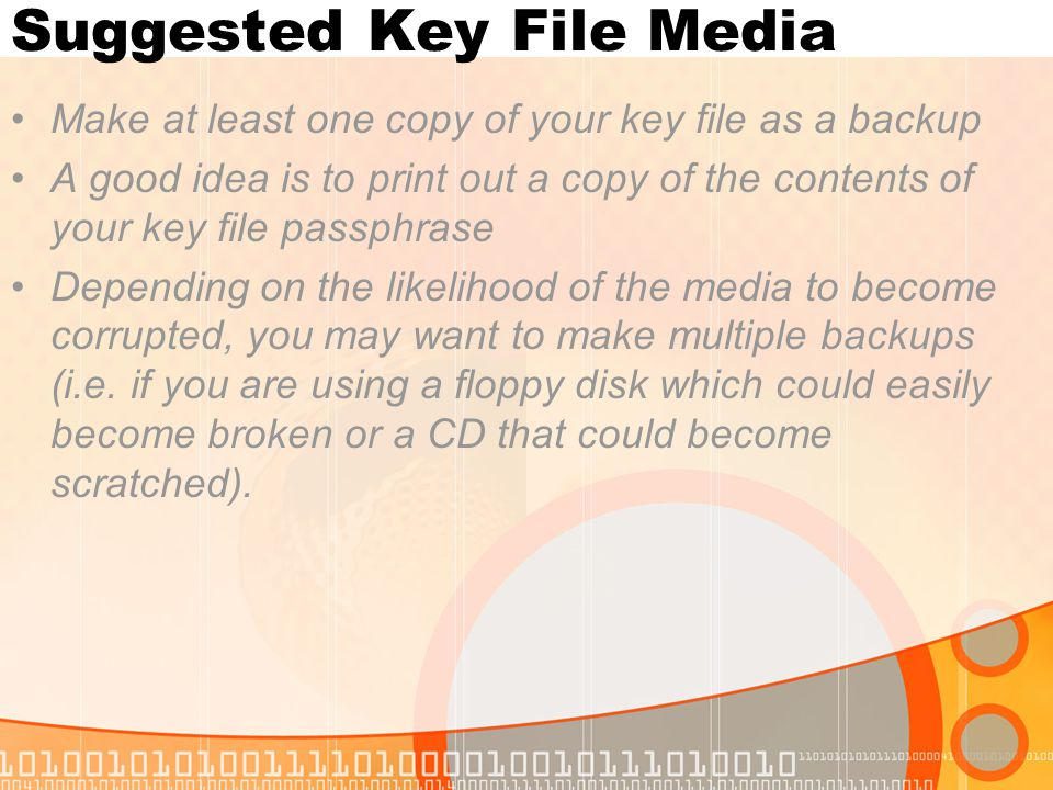 Suggested Key File Media