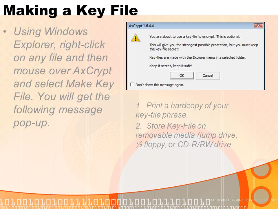 Making a Key File