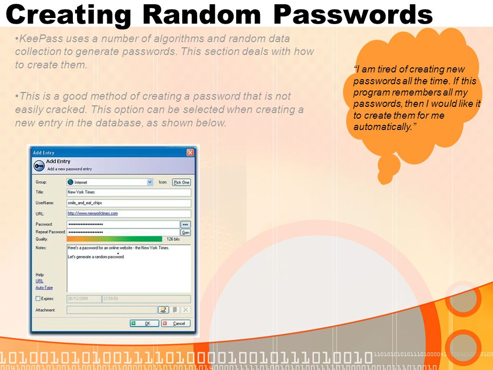 Creating Random Passwords