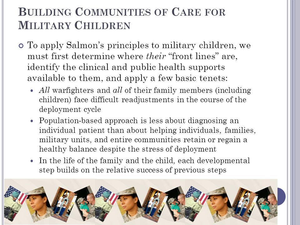 Building Communities of Care for Military Children