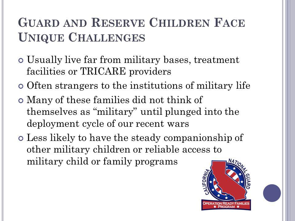 Guard and Reserve Children Face Unique Challenges