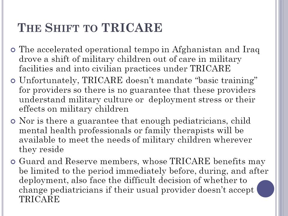 The Shift to TRICARE