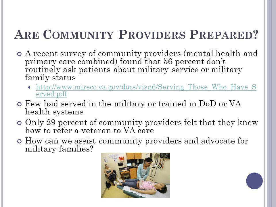 Are Community Providers Prepared