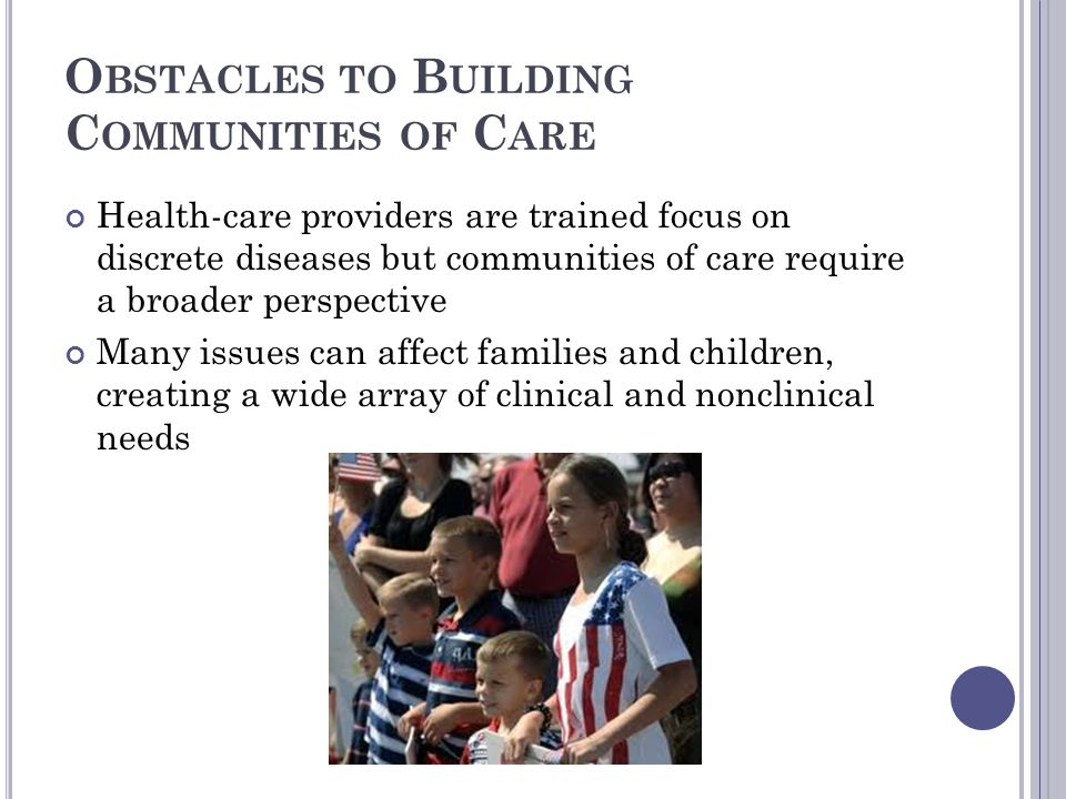 Obstacles to Building Communities of Care