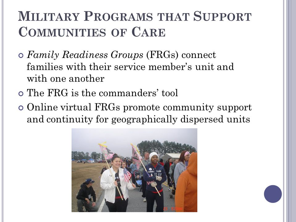 Military Programs that Support Communities of Care