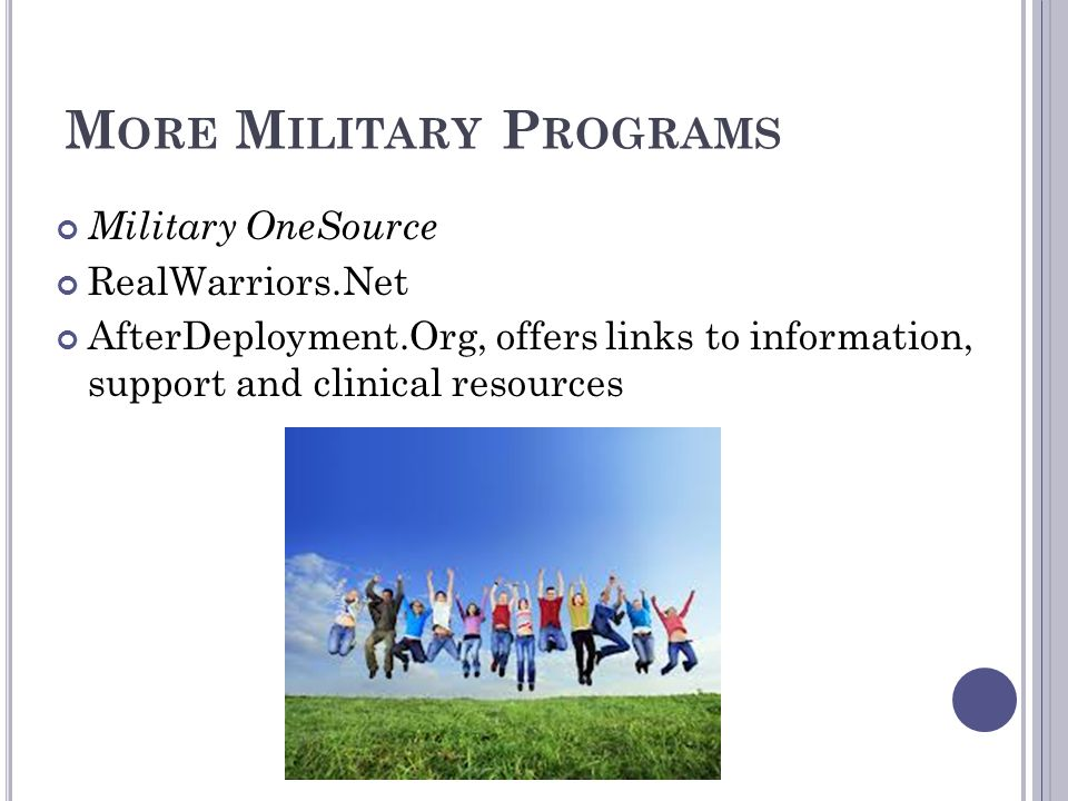 More Military Programs