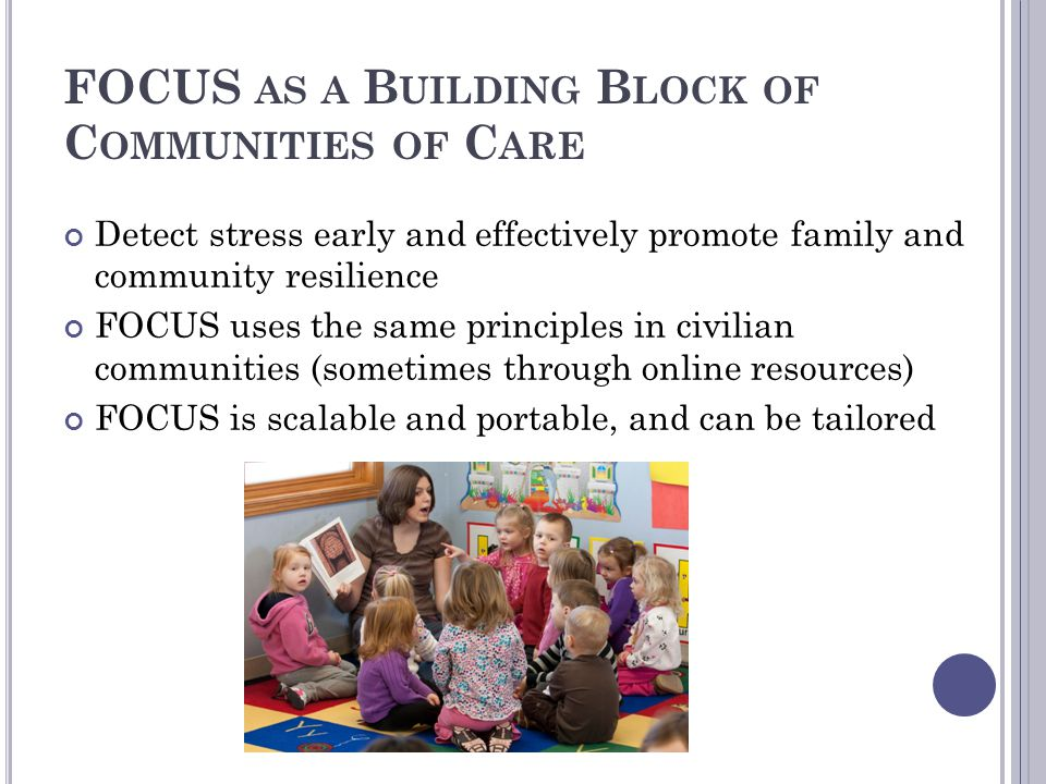 FOCUS as a Building Block of Communities of Care