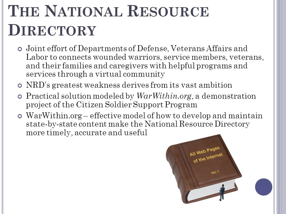 The National Resource Directory