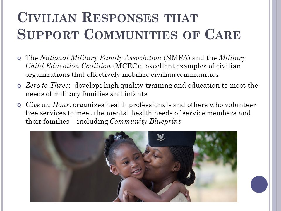 Civilian Responses that Support Communities of Care