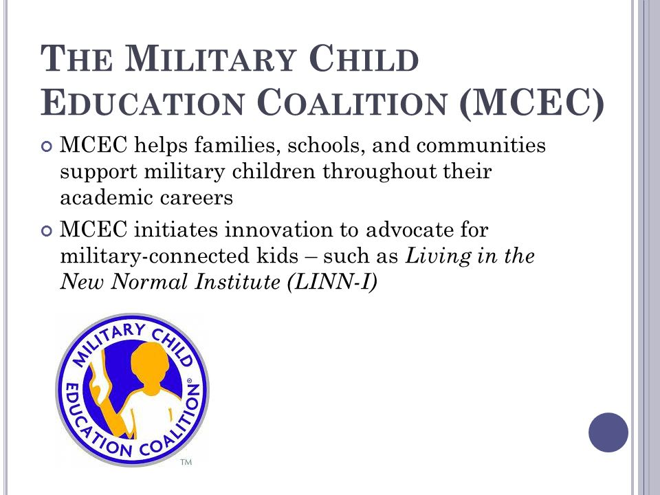 The Military Child Education Coalition (MCEC)