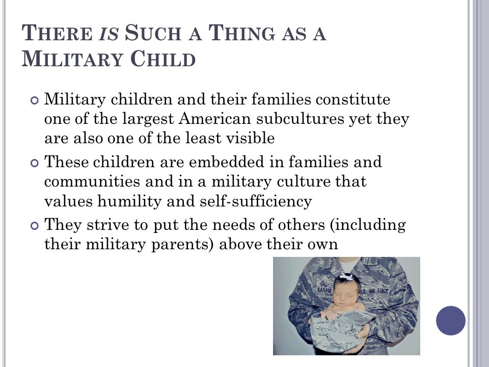 There is Such a Thing as a Military Child