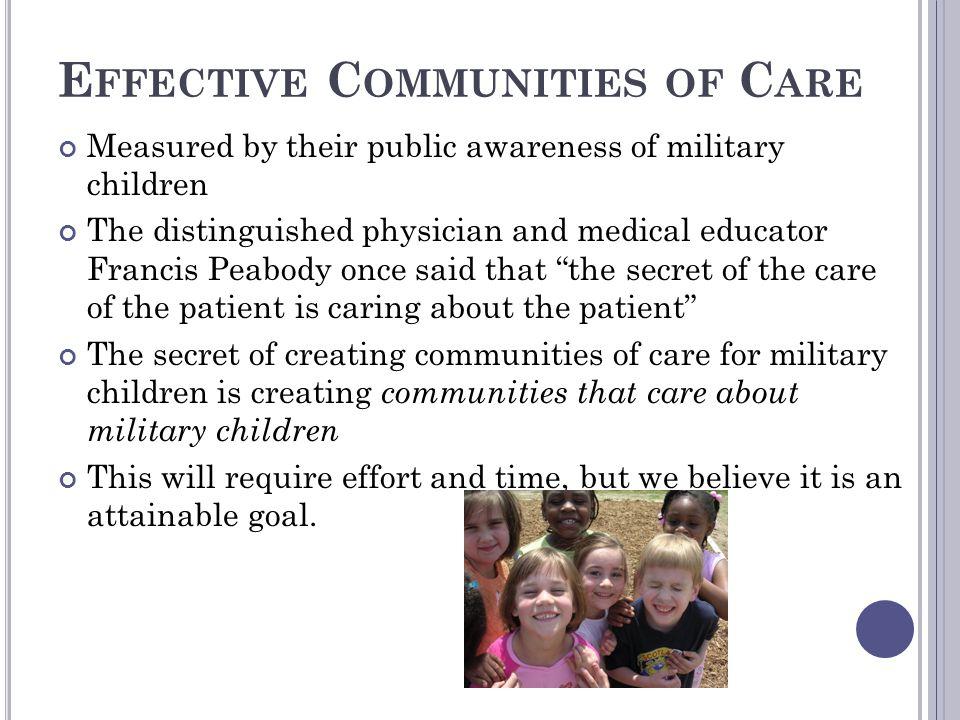 Effective Communities of Care