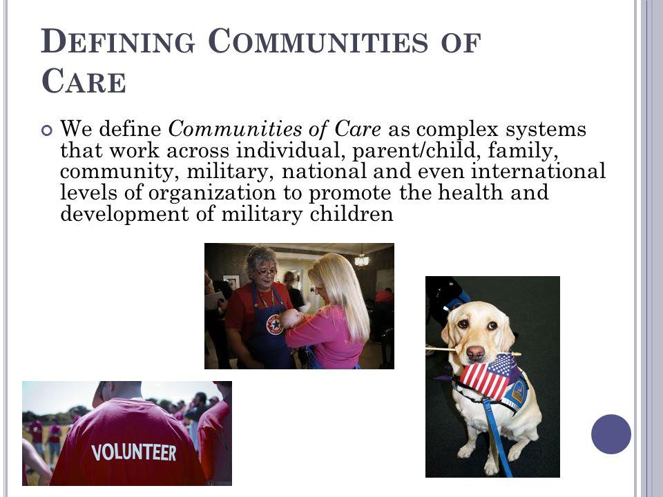 Defining Communities of Care