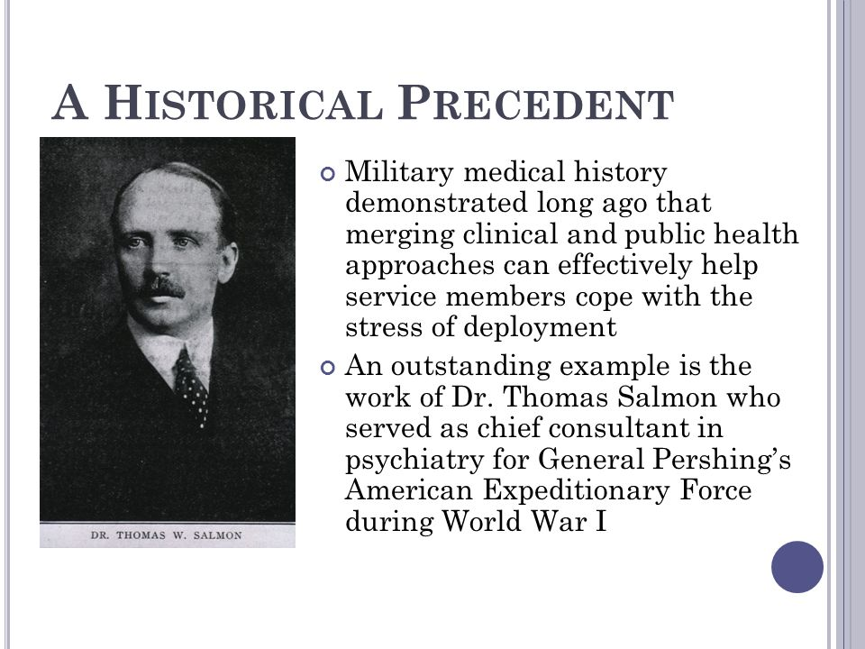 A Historical Precedent