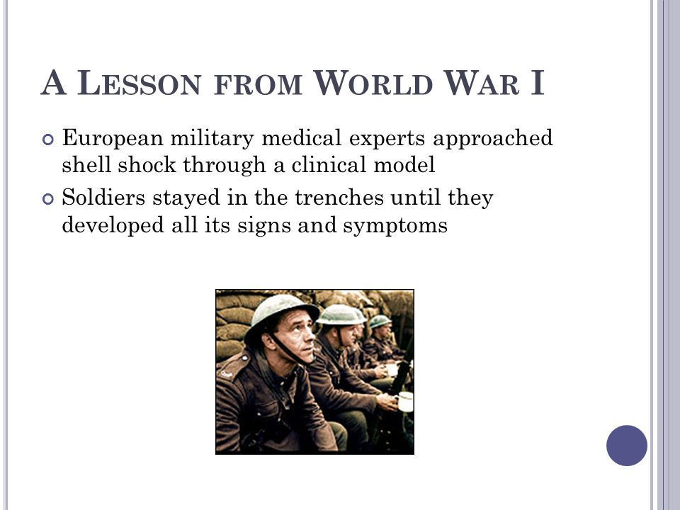 A Lesson from World War I