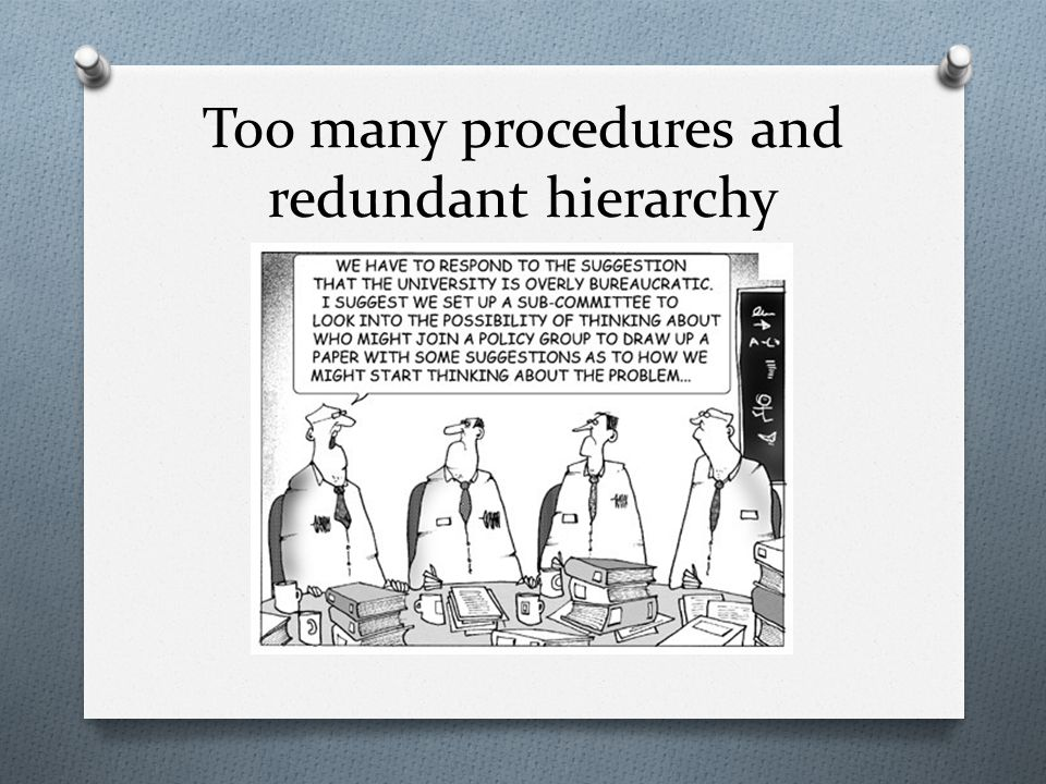 Too many procedures and redundant hierarchy