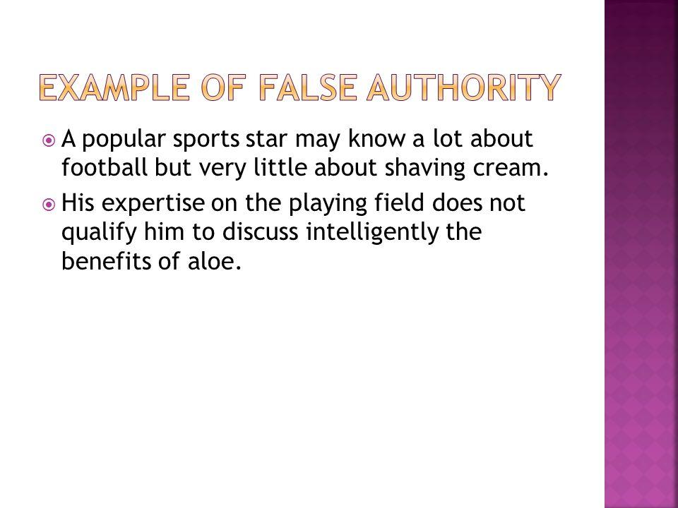Example of False Authority