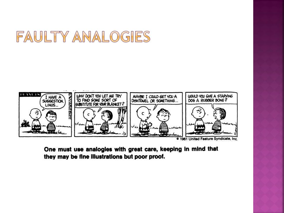 Faulty Analogies