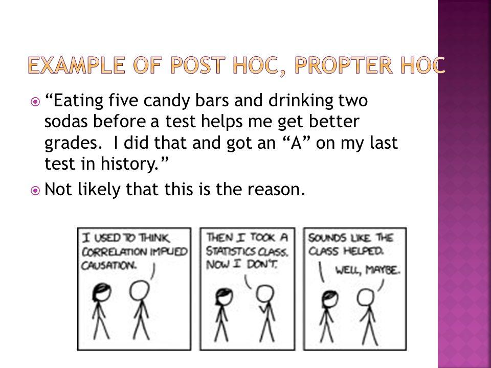 Example of Post Hoc, Propter Hoc