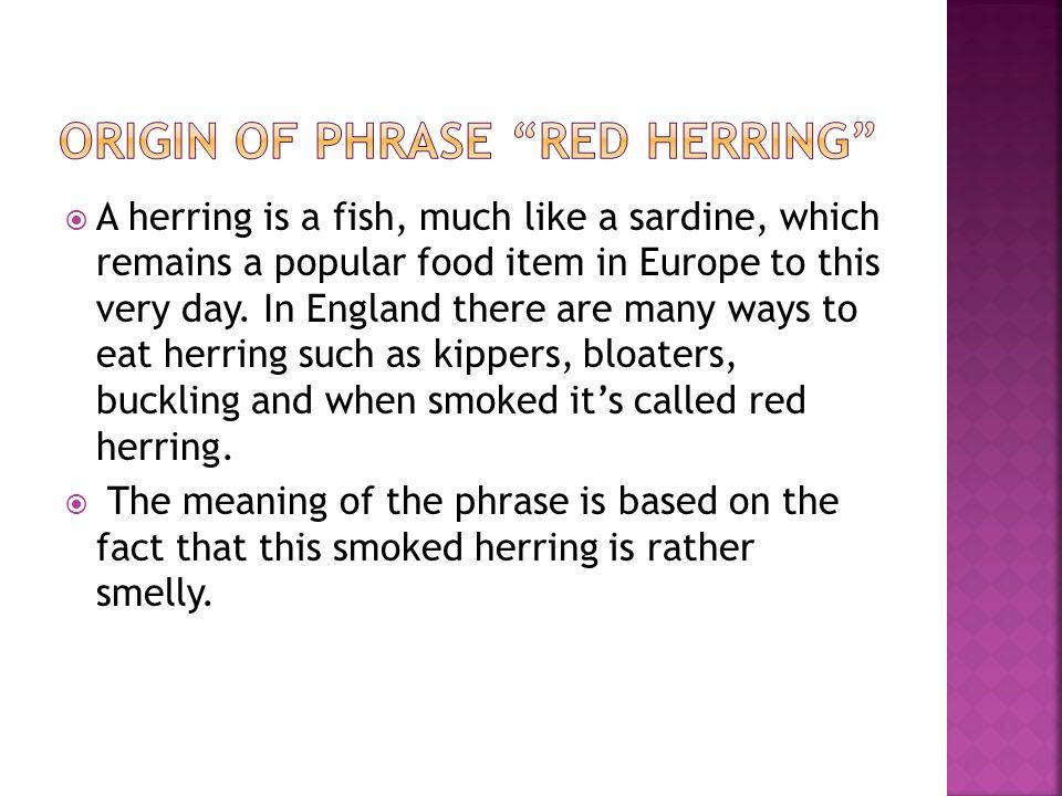 Origin of phrase red herring