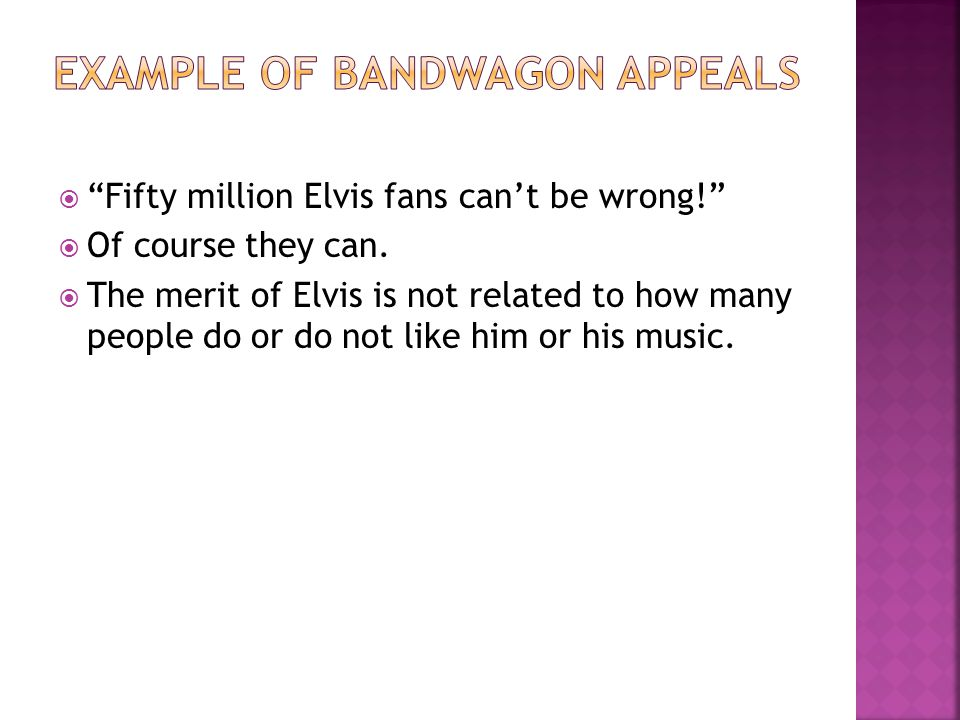 Example of Bandwagon Appeals