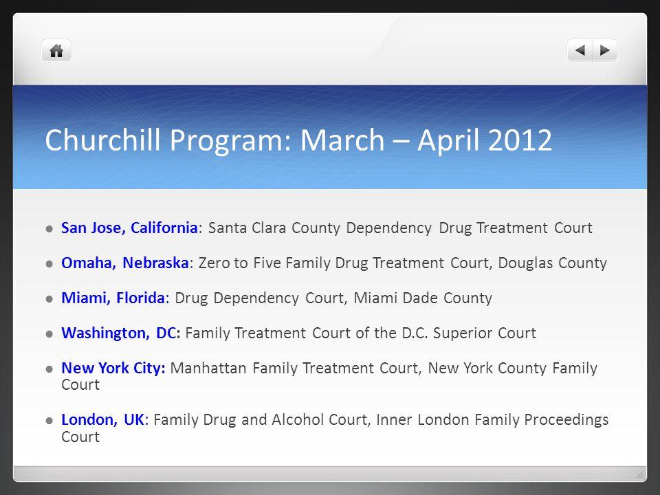 Churchill Program: March – April 2012