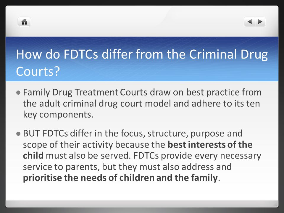 How do FDTCs differ from the Criminal Drug Courts