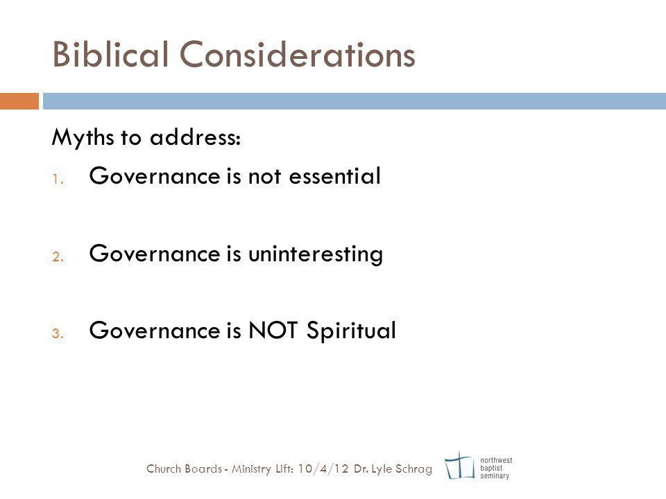 Biblical Considerations