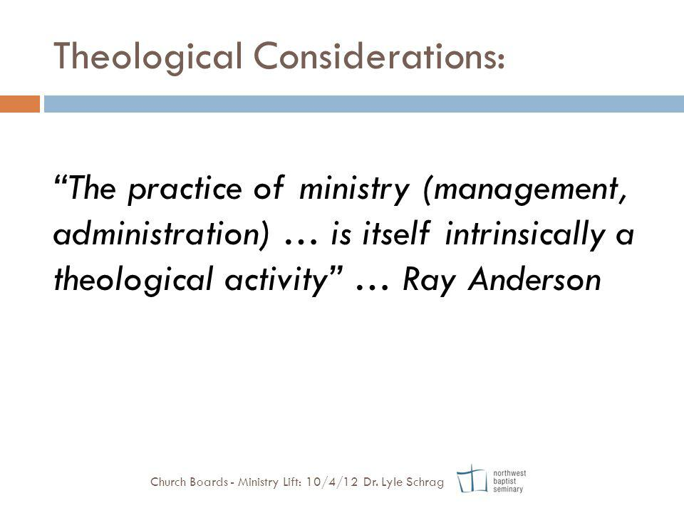 Theological Considerations:
