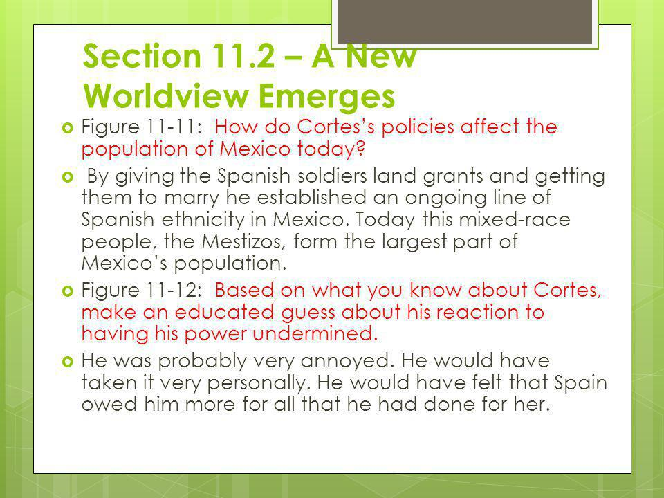 Section 11.2 – A New Worldview Emerges