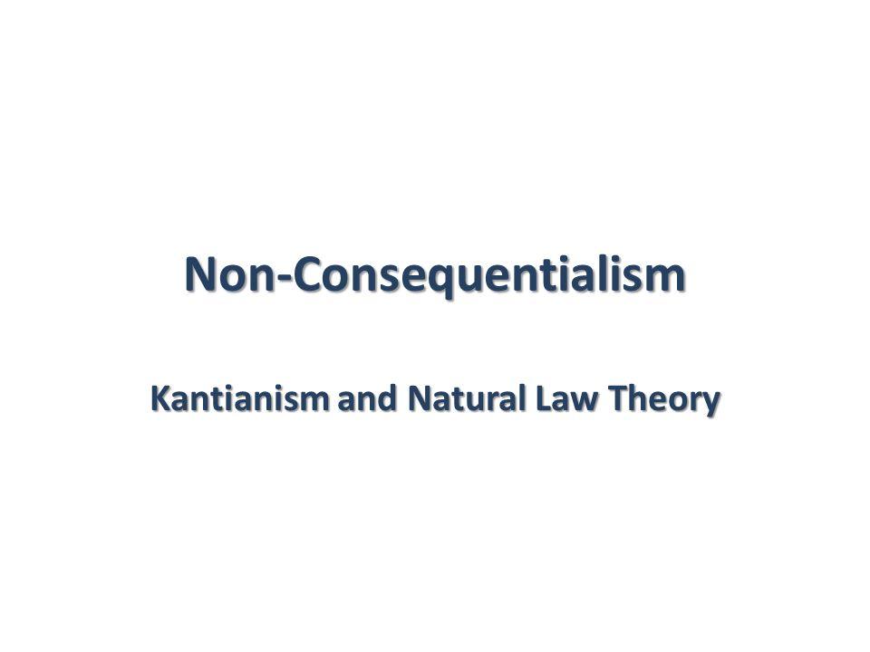 Non-Consequentialism