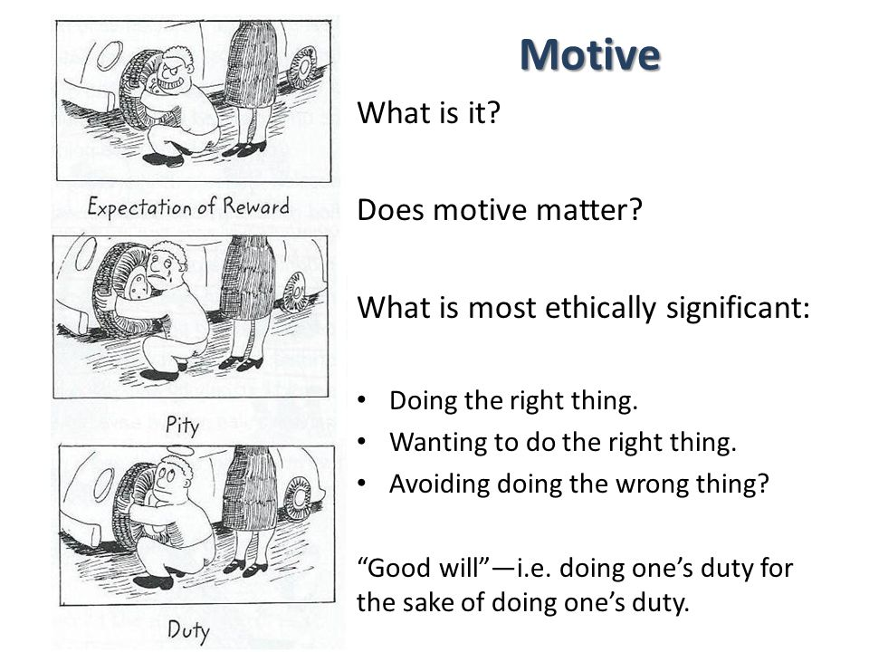 Motive What is it Does motive matter