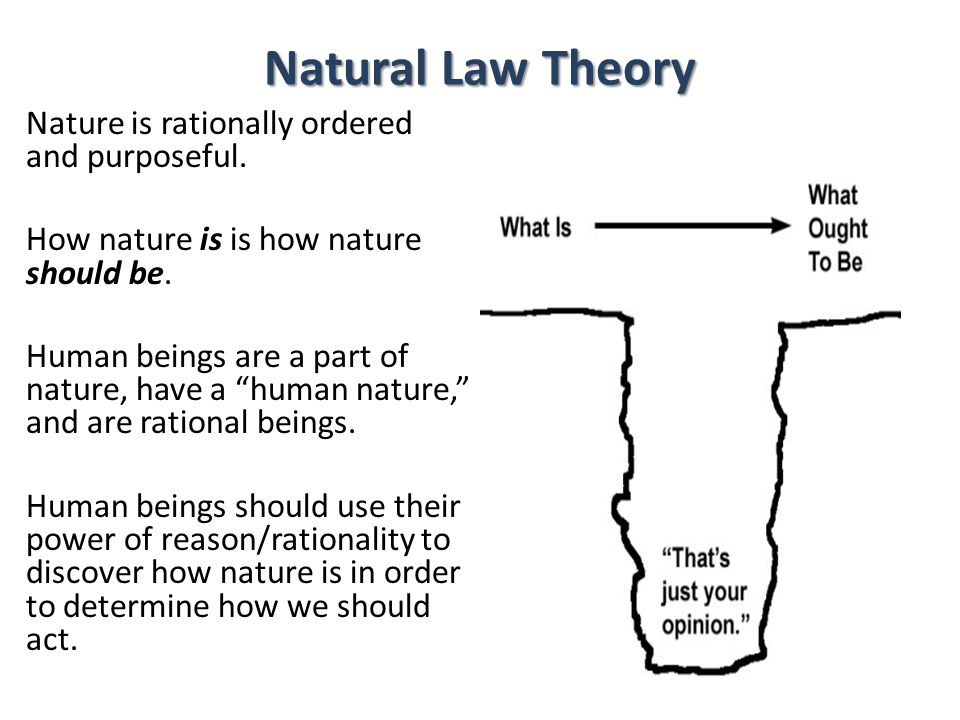 outline the theory of natural law Offered by natural-law theory and legal positivism' is possible  (1983), we  outline our understanding of the dispute between natural-law theory and legal.
