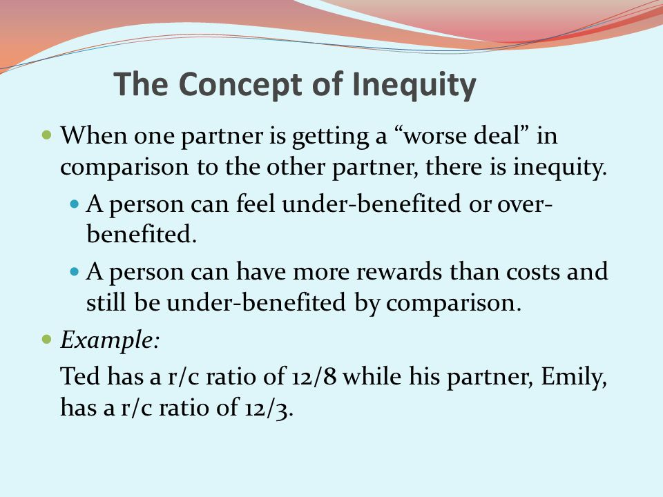 The Concept of Inequity