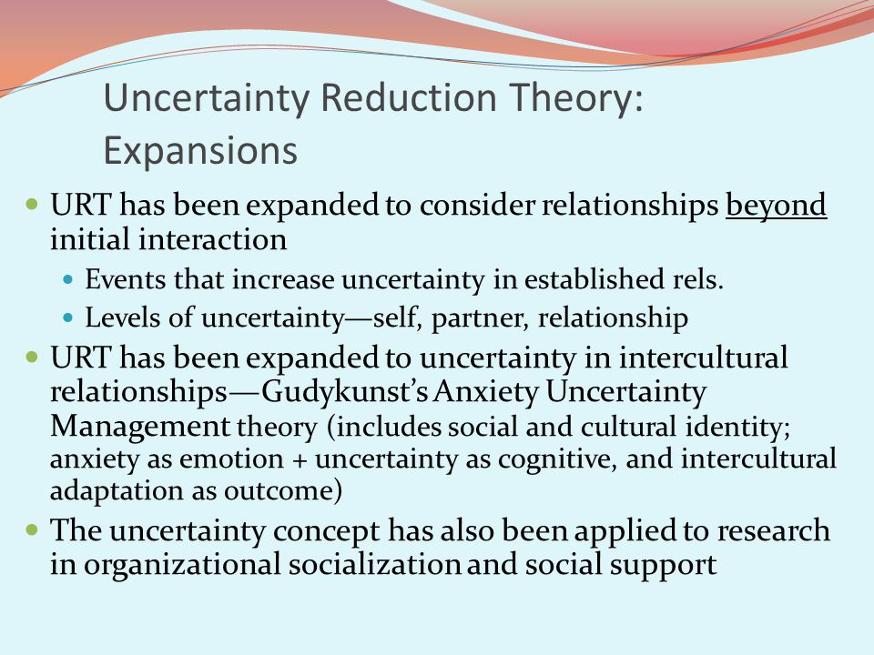 Uncertainty Reduction Theory: Expansions