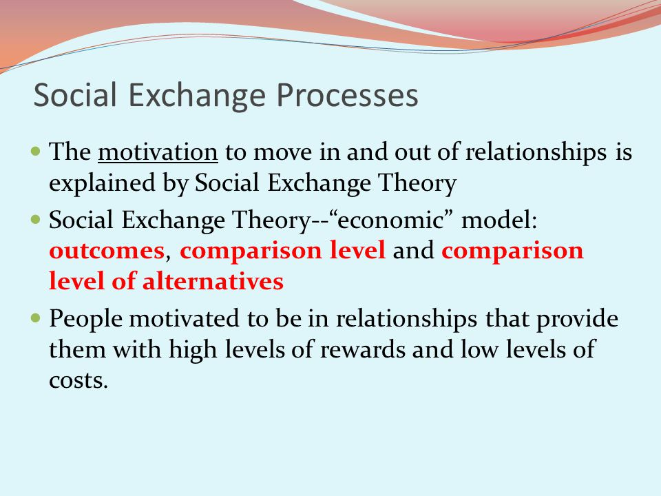 Social Exchange Processes