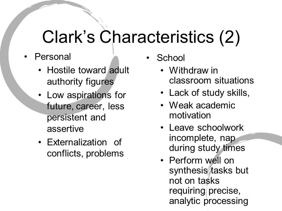 Clark's Characteristics (2)
