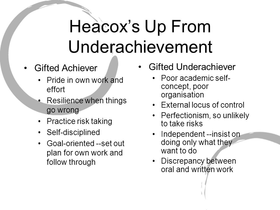 Heacox's Up From Underachievement