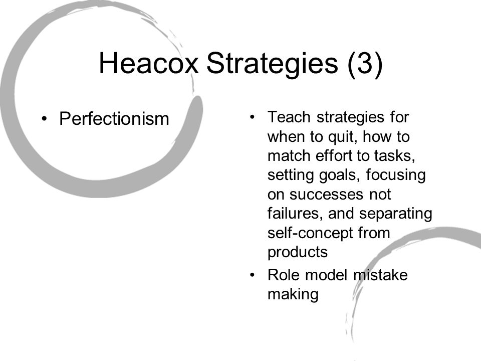 Heacox Strategies (3) Perfectionism