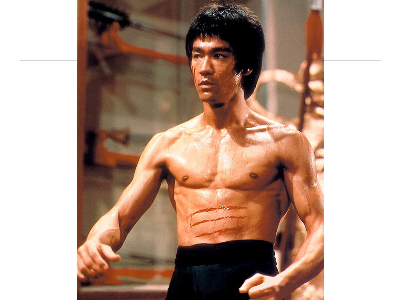 When I was young I want to be like Bruce Lee