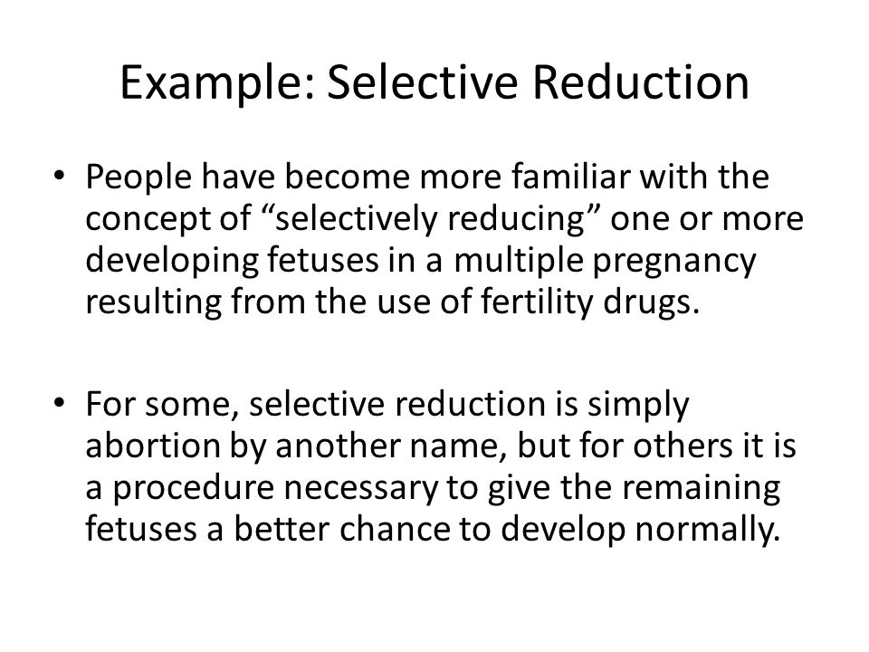 Example: Selective Reduction