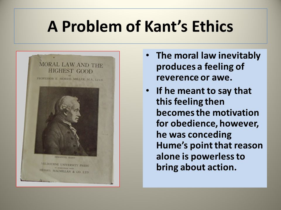 A Problem of Kant's Ethics
