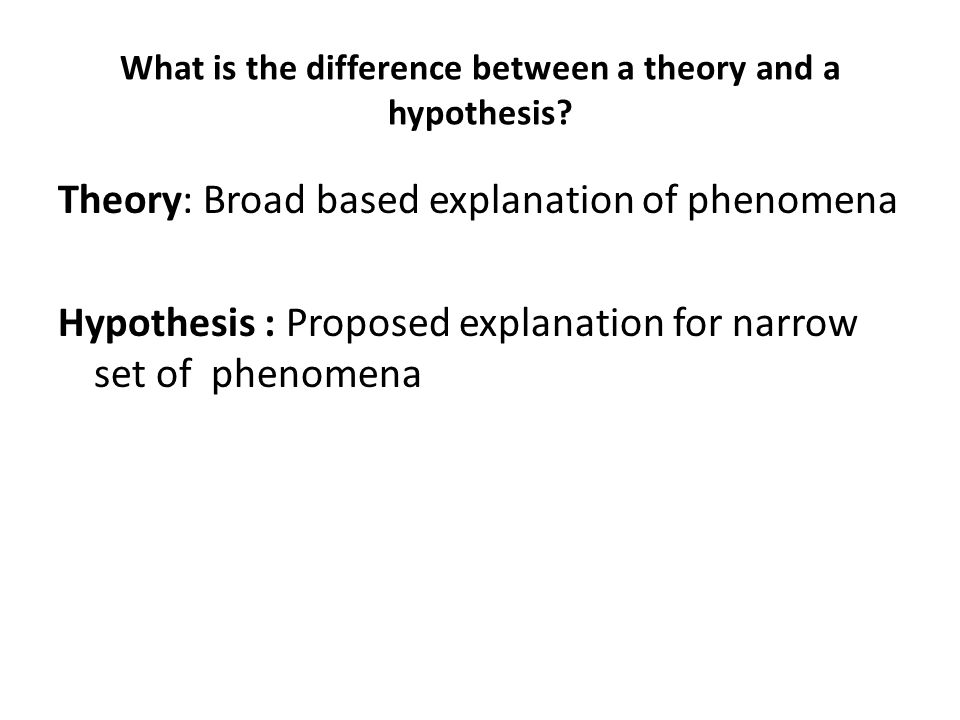 What is the difference between a theory and a hypothesis
